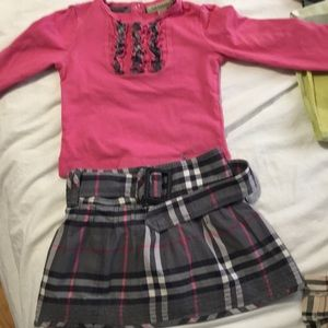 Burberry skirt and blouse